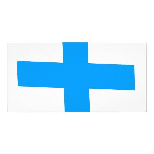 Blue Cross Photo Greeting Card