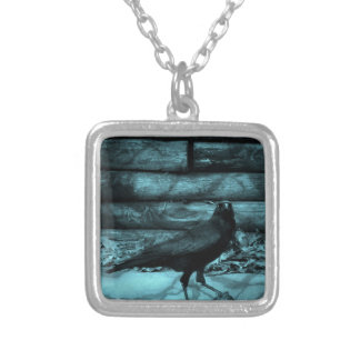 Blue Crow Shadows Silver Plated Necklace