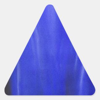 Blue Crucifixion (religious symbolism painting) Triangle Sticker