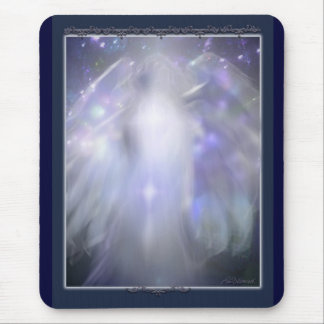 blue crystal angel mouse pad