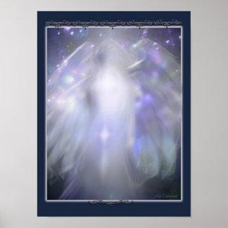 blue crystal angel poster
