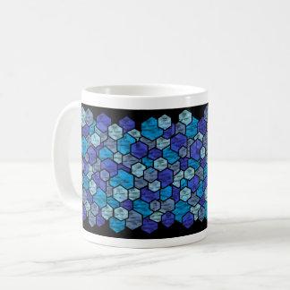 blue crystal coffee mug