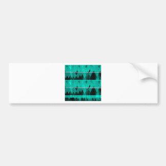 Blue Crystal Ice Mountain Pattern Bumper Sticker