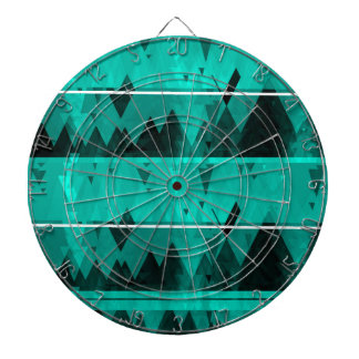Blue Crystal Ice Mountain Pattern Dartboard