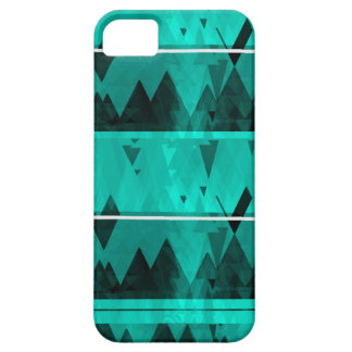 Blue Crystal Ice Mountain Pattern iPhone 5 Case