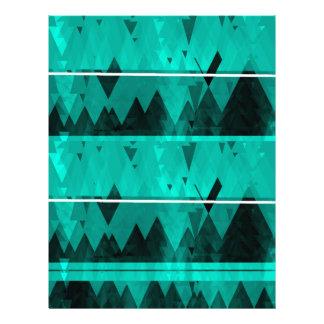 Blue Crystal Ice Mountain Pattern Letterhead