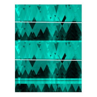 Blue Crystal Ice Mountain Pattern Postcard