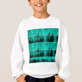 Blue Crystal Ice Mountain Pattern Sweatshirt
