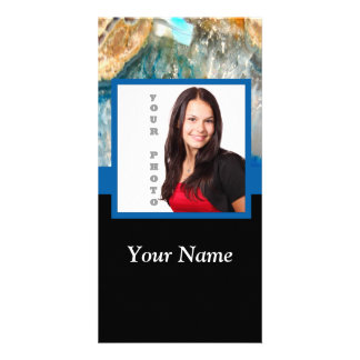 Blue crystal instagram template photo cards