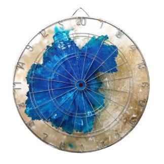 Blue Crystal Rock Hound Collector Gemology Dartboard With Darts