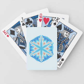 Blue crystal snowflake Seasonal Cards