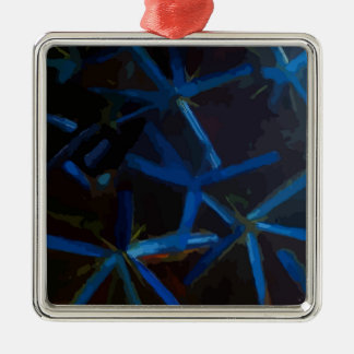 Blue Crystal Stars Christmas Tree Decoration