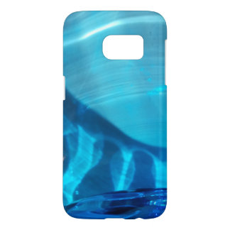 Blue Crystal Swirl Design Samsung Galaxy S7 Case