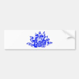 Blue Crystalline Lotus Bumper Sticker