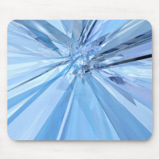 Blue Crystals Mouse Pad
