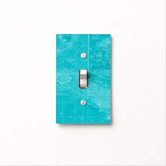 Blue Cuba Map Light Switch Cover