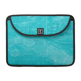 Blue Cuba Map Sleeves For MacBook Pro