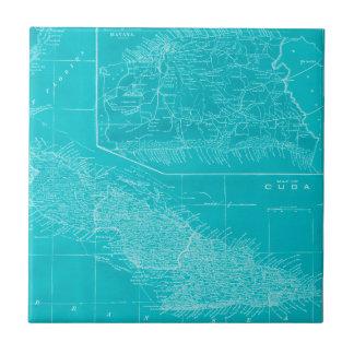 Blue Cuba Map Tile