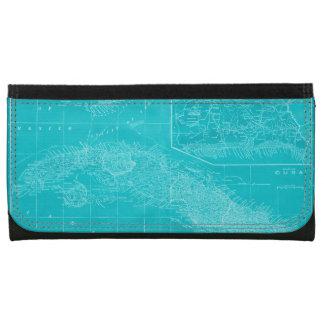 Blue Cuba Map Wallet