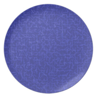 blue cubed party plates