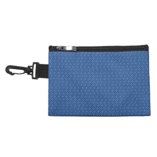 Blue Cubes patterned Accessory Bag
