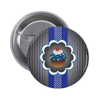 Blue Cupcake Strips/Dot Pin