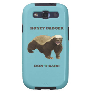 Blue Curacao Honey Badger Dont Care Galaxy S3 Cases