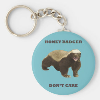 Blue Curacao Honey Badger Dont Care Key Chain