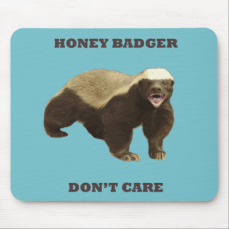 Blue Curacao Honey Badger Dont Care Mouse Pad