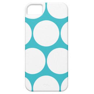 Blue Curacao Large Polka Dot iPhone 5 Case