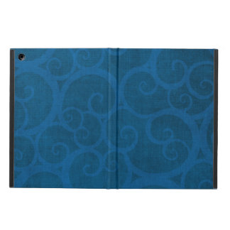 Blue curls lines case for iPad air