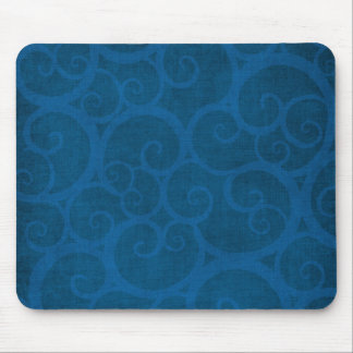 Blue curls lines mouse pad
