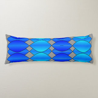 blue curtain pillow