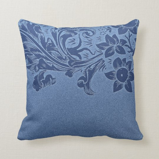 blue custom pillow