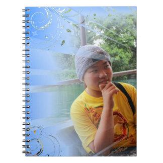 blue customized notebook