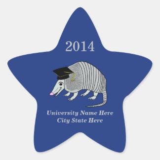 Blue Cute Armadillo Star Graduation Star Sticker