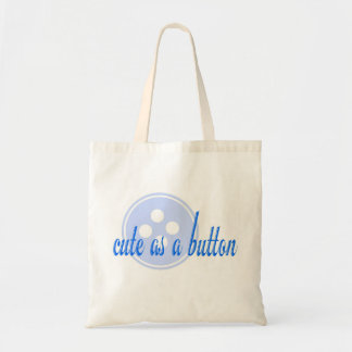 Blue Cute as a Button Bag