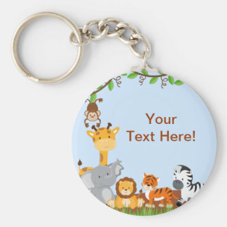 Blue Cute Jungle Baby Animal Keychain