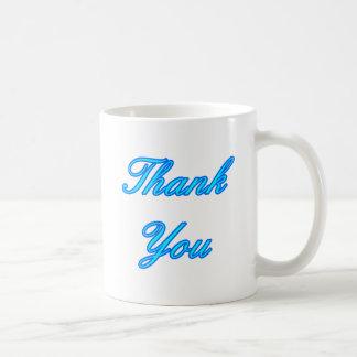 Blue Cyan Thank You Design The MUSEUM Zazzle Gifts Mugs