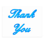 Blue Cyan Thank You Design The MUSEUM Zazzle Gifts Postcards