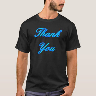 Blue Cyan Thank You Design The MUSEUM Zazzle Gifts T-Shirt