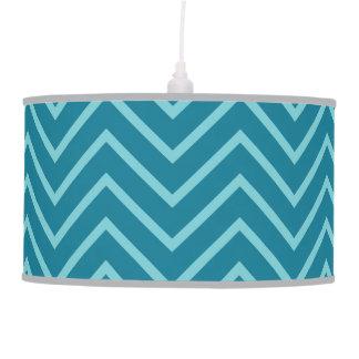 Blue/cyan zig zag pattern lamp