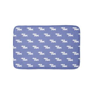 Blue Dachshund Bath Mat