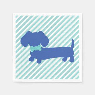 Blue Dachshund Wiener Dog Napkins Paper Napkins