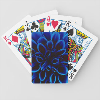 Blue Dahlia Bicycle Playing Cards