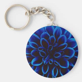 Blue Dahlia Keychain