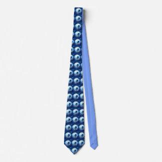 Blue dahlia lovers tie medium pattern