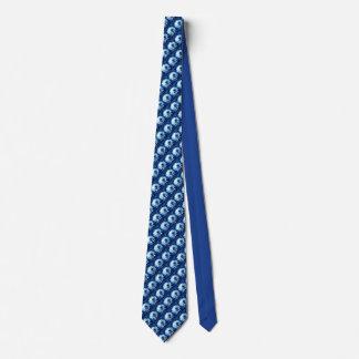 Blue dahlia lovers tie small pattern
