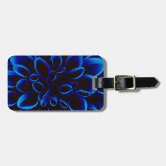 Blue Dahlia Luggage Tag