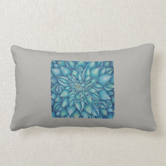 Blue Dahlia Lumbar Pillow